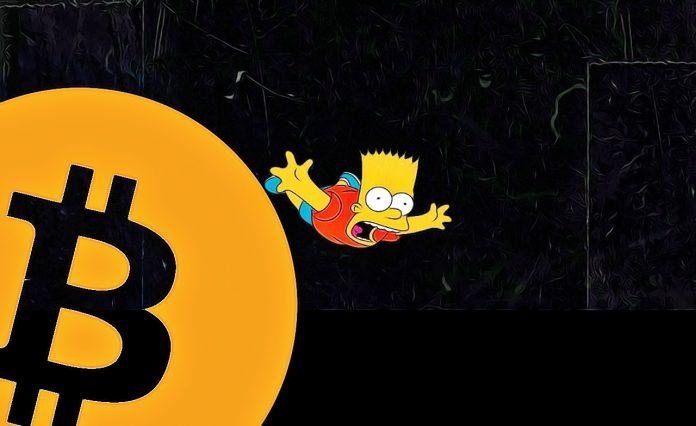 Bitcoin propad bart simpson padá dole void dump manipulace 10 000 $
