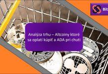 Analýza trhu - Altcoiny, které se vyplatí koupit, a ADA při chuti